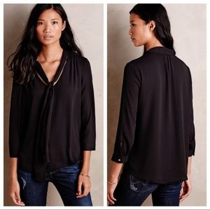 ANTHRO HD in Paris Size 8 Astral Tie Neck Blouse